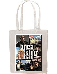 San Andreas Inspired Breaking Bad Fan Artwork Tote Shopping Bag