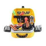 Dapei 29PCS Utensile per la casa con simulazione, valigia, gioco di ruolo per bambini, gioco di esperienza, gialla, mini borsa a tracolla per la conservazione 37 x 28 x 23 cm