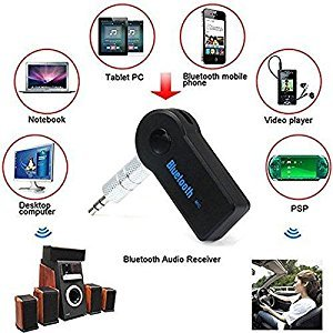 AMEXO 3.5mm Wireless Car Wireless Receiver Adapter AUX Audio Stereo Music Hands-free Wireless Audio Adapter
