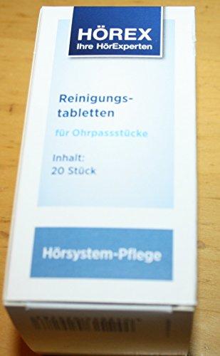 Desifizierende Reinigungstabletten für HdO-Ohrstücke 2 * 20 Stück -