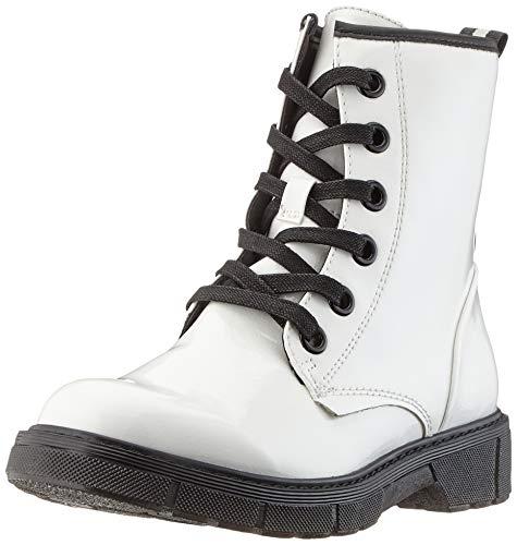 MARCO TOZZI Damen 2-2-25282-23 Biker Boots, Weiß (White Pat.Comb 190), 41 EU