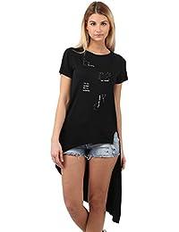 Miss Coquines T-Shirt Orné de Strass - Femme - Tops et Débardeurs - T-Shirts
