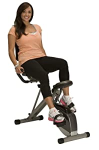 Exerpeutic (EXER6) Unisex's Exerpeutic 400XL Folding Recumbent Bike with Pulse Exercise, Grey Black, One Size
