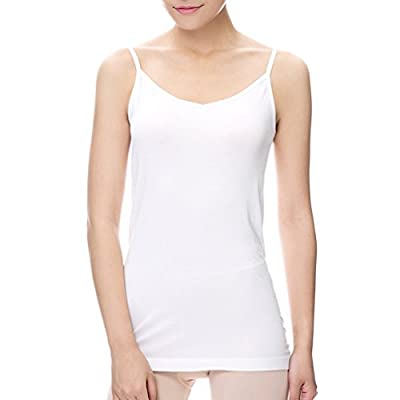 Comfortableinside Women's All-match Simple Basic Adjustable Strap Soild Reversible Length Camisole