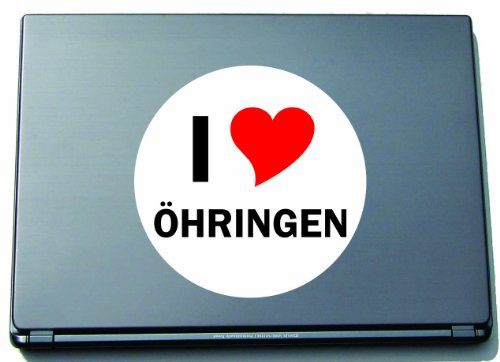 I Love Aufkleber Decal Sticker Laptopaufkleber Laptopskin 210 mm mit Stadtname OEHRINGEN