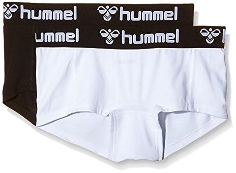 Hummel Damen Shorts Hers 2-Pack Mini, black/white, S,