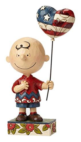 Jim Shore Enesco-Arachidi per uccelli selvatici da collezione, realizzato con un Charlie Brown, motivo: ragazza con palloncino