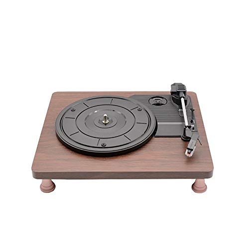 Retro Bluetooth Speaker, Platine tourne-disque plat en bois Record Machine Vintage Vinyle Multi-fonctionnel Phonographe Tourne-disque Bluetooth Haut-parleurs Valise Platine Avec Bluetooth Décoration d