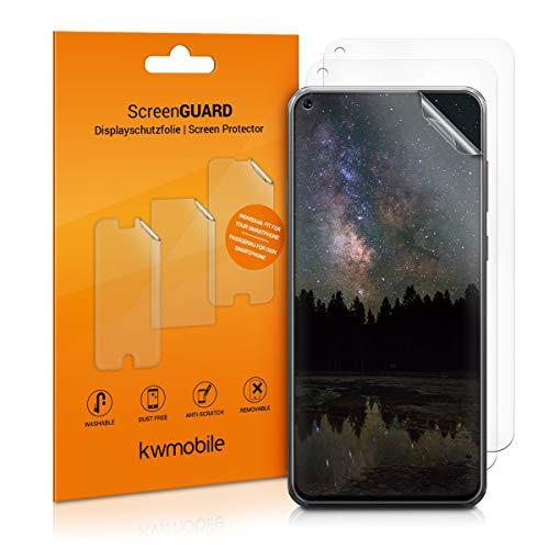 kwmobile 3X Folie für Samsung Galaxy A8s - klare Bildschirmschutzfolie Bildschirmschutz Crystal Clear kristallklar Bildschirmfolie Schutzfolie