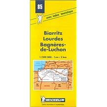 Carte routière : Biarritz - Lourdes - Luchon, 85, 1/200000