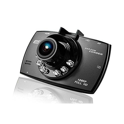 """HD 1080P Auto LED DVR Straße Dash Videokamera Recorder Fahrzeug Der Verkehr Instrumententafel Camcorder 2.4 """" 100 Grad 300W Pixel Weitwinkelansicht mit Windschutzscheibe Saugnapf, Schwarz"""