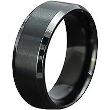 Contever® Anillo de hombre y mujer acero de Titanio Acero Pulido Ring Venda (Diámetro