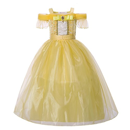 Pettigirl ragazze principessa vestito halloween cosplay costume fantasia vestito 5anni