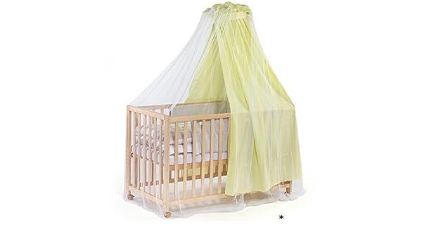 Insektenschutz für kinderbetten mit himmel bis 70x140cm in weiß