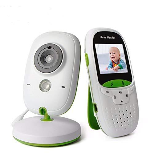 GKBMSP Babyphone mit Kamera Home Security Monitor 2,0 Zoll LCD-Bildschirm mit Nachtsicht Temperatursensor Zweiwege-Audio Schlaflieder für Baby/Elder Lcd Security Monitor