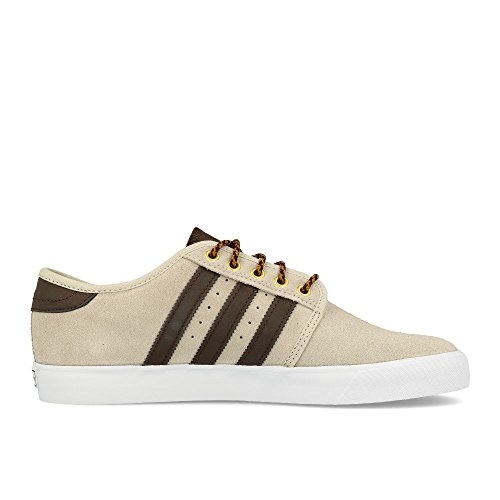adidas Seeley, Baskets Basses Homme, Gris Marron (Clear Brown/brown/footwear White)