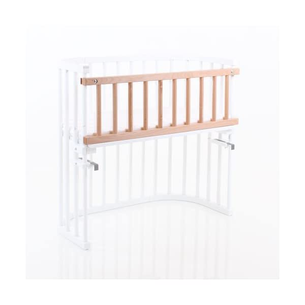 NSAuk BabyBay Convertible Siderail (Varnished Beech)  Made of solid wood Comes with the locking clip Fit for original, mini and midi co-sleeper cot 2