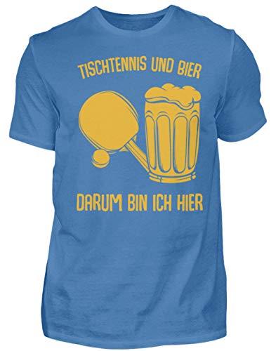 Kleidungskulisse Tischtennis Und Bier Darum Bin Ich Hier Bier Sport Party Feiern Trinkspiele Lustig - Herren Premiumshirt -S-Türkisblau