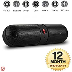 Supreno Bluetooth Capsule ( Pill ) Speaker with FM | Pendrive SD card input | MP3 music player | Portable Device | Handsfree | Mic | Stereo speaker | mini Speaker | High Definition Audio Compatible with Android Devices capsule pill car outdoor speaker