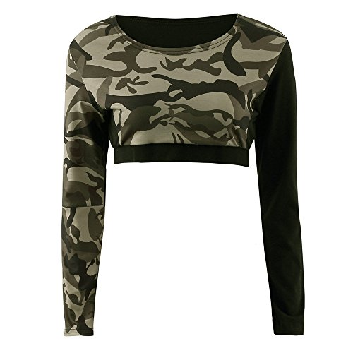 Coolster Damen Trainingsanzug Camouflage Tops & Hosen Sweatshirt Sets Casual Sport Wear (Tarnung, Tops M)
