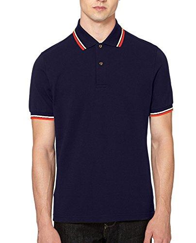 ROCKBERRY Herren Poloshirt Navy