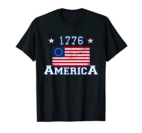Betsy Ross Original USA Flagge Amerikanische Flagge T-Shirt -