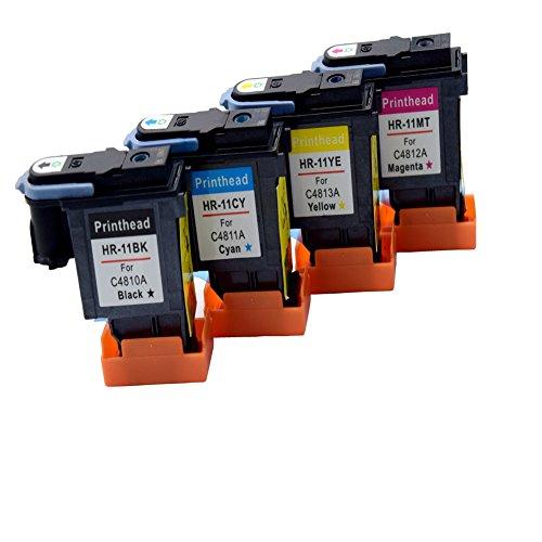 comada 1pcs 4testa a getto d' inchiostro di ricambio compatibile per HP HP1111C4810A C4811A C4813A (Colori A Getto D'inchiostro Di Ricambio)