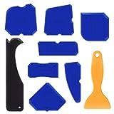 Amteker 9 Stücke Abdichtung Werkzeug Caulk Caps Sealant Schaber Kit Fugenglätter Set für Alle Badezimmer Küche Raum und Rahmen