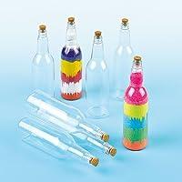 Baker Ross Botellas de plástico con tapón de corcho (Paquete de 4) Para pintar