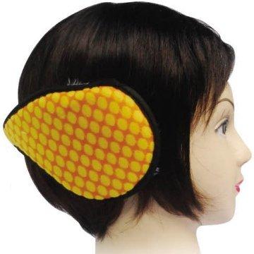 Gelb Schwarz gepunktet Pelz gefüttert Ohrenschützer Ohr (Ohr Muffs Pelz)