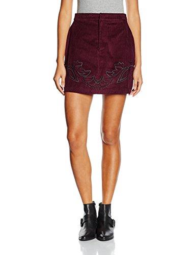 MinkPink Valley of the Vine Skirt, Jupe Femme Rouge (Rouge lie de vin)