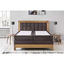 Furniture for Friends Möbelfreude Boxspringbett Puzzle Bonellfeder- und Taschenfederkern Wildeiche/Terrabraun 140 x 200 cm H3