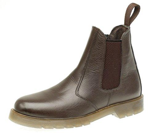 Grafters ,  Damen Chelsea Boots Dunkelbraun