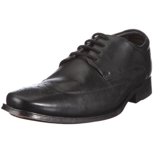 Clarks Feelin Soft 20343913 Herren Klassische Halbschuhe Schwarz (Black Leather)