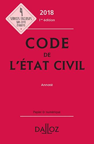 Code de l'état civil annoté