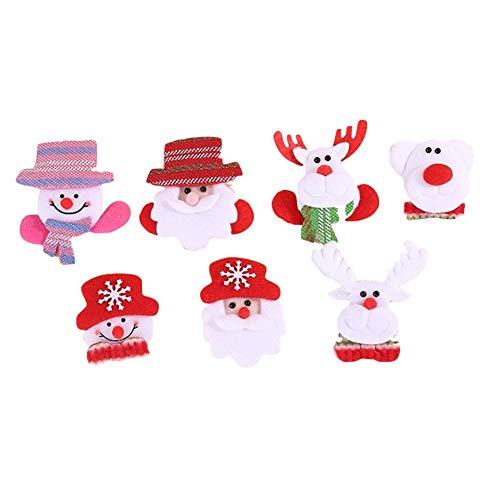 Zanzan Weihnachtsdekoration mit Lampe Leuchtend Brosche Haarnadel Erwachsenenfeste-Party-Lieferungen - Gesichts-licht-schalter