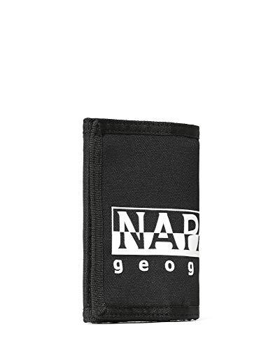 Napapijri HAPPY WALLET Portamonete, 27 cm, Nero (Black)