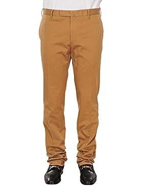 Incotex Pantalón Hombre 54 Marrón algodón normal Corte recto
