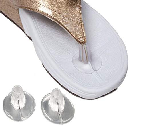 5 pairs klar rutschfeste soft gel silikon tanga sandale zehenschutz flip-flop sandale zehenschutz einsätze kissen schuhe griffe fußpolster für männer und frauen(Style A) - Soft-flipflops