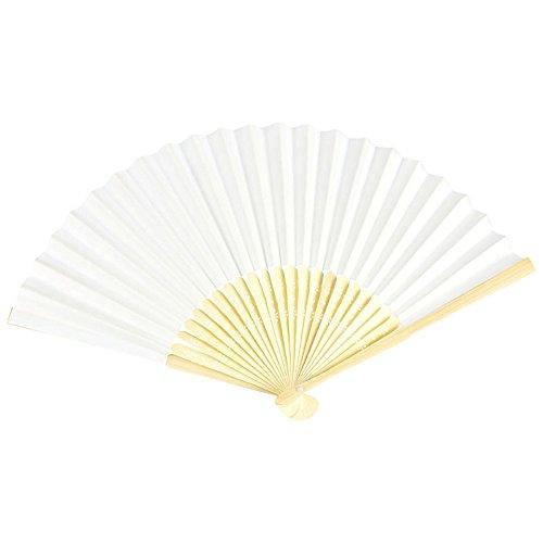 VON LILIENFELD Fächer Bella Papierfächer Bambusstäbe weiß