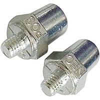 YSSP 2 Negativo Piezas Universal Positivo del Coche Terminal de la batería Clip de la Abrazadera del Conector Resistencia a la corrosión de Plata cableado Conveniente