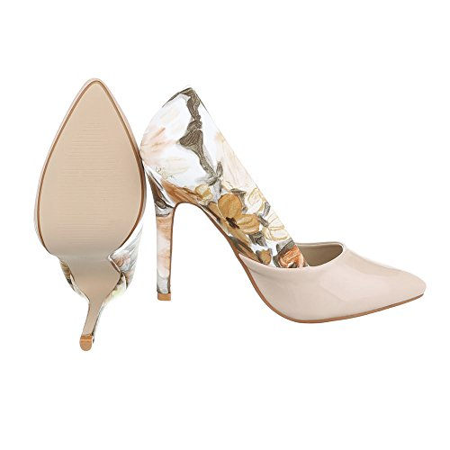 Ital-Design , chaussures compensées femme Beige Multi