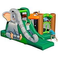 Duplay Elephant's Cave 15ft Bouncy Castle with Slide