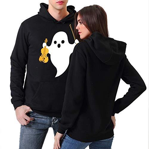 TWBB Winter Warme Unisex Paar Hoodie 3D Halloween Geist Drücken Kapuzenpullover Mantel Strickjacke Dicker Outwear Winterjacke