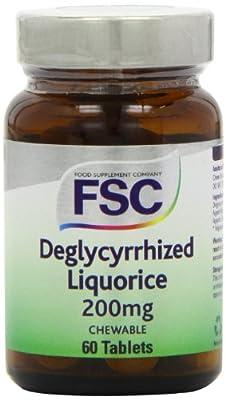 FSC 200mg Deglycyrrhized Liquorice - Pack of 60 Tablets by FSC