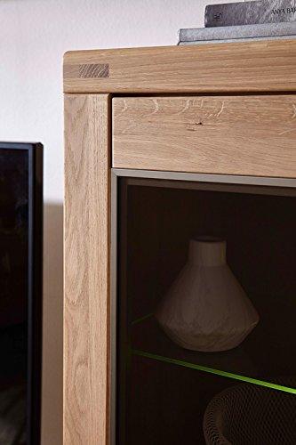 Wohnzimmerschrank, Wohnwand, Schrankwand, Anbauwand, Fernsehwand, Wohnzimmerschrankwand, Wohnschrank, Massivholz, Massiv, Wildeiche - 3
