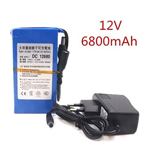 Batterie Lithium-ION Rechargeable pour Batterie de télévision en Circuit fermé 12 V Adaptateur...