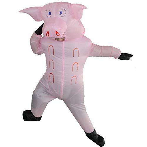 LLVV Halloween Aufblasbare Rosa Schwein Kostüm, Kleid Cosplay Halloween Kostüme, Schwein Nette Lustige Party Kleidung für Erwachsene (Nette Lustige Kostüm)