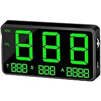 Augneveres Head Up Display C80 - Velocímetro Digital Universal para Coche, GPS, HUD, velocímetro, Pantalla de Velocidad KM/h mph para Bicicleta, Motocicleta, Coche, Color Negro