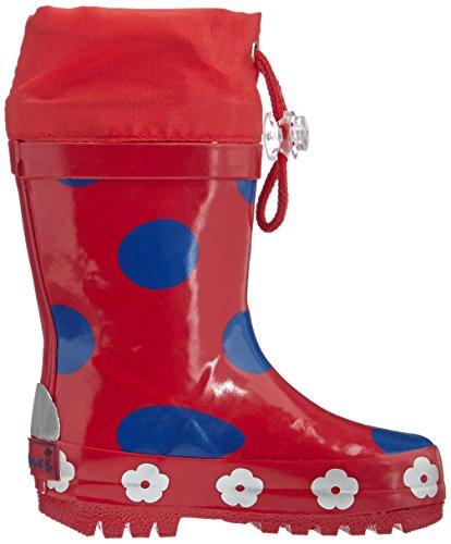 Playshoes Gummistiefel, Regenstiefel Punkte, Aus Naturkautschuk, Bottes Fille Rouge (900 original)